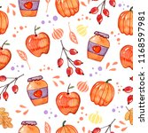 handdrawn seamless pattern with ... | Shutterstock . vector #1168597981