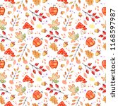 handdrawn seamless pattern with ... | Shutterstock . vector #1168597987