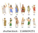 pantheon of ancient greek gods  ... | Shutterstock .eps vector #1168604251