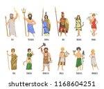pantheon of ancient greek gods  ... | Shutterstock .eps vector #1168604251