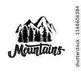 hand draw wilderness typography ... | Shutterstock .eps vector #1168606384