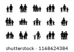 family portrait glyph vector... | Shutterstock .eps vector #1168624384