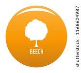 beech tree icon. simple... | Shutterstock . vector #1168624987