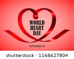 world heart day red concept...   Shutterstock . vector #1168627804