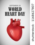 world heart one day concept... | Shutterstock . vector #1168627807