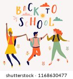 back to school lettering vector ... | Shutterstock .eps vector #1168630477