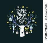 handdrawn christmas conceptual... | Shutterstock .eps vector #1168632931