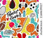 modern seamless pattern with... | Shutterstock .eps vector #1168639027
