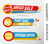 sale banner collection | Shutterstock .eps vector #1168644394