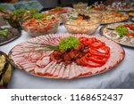 catering for corporate parties... | Shutterstock . vector #1168652437