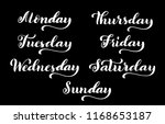big calligraphic set days of... | Shutterstock .eps vector #1168653187
