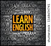 learn english word cloud... | Shutterstock .eps vector #1168654741