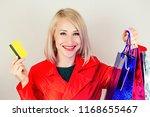 beautiful blonde female... | Shutterstock . vector #1168655467