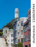 san francisco  typical colorful ... | Shutterstock . vector #1168656964