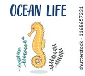 cute hippocampus cartoon... | Shutterstock .eps vector #1168657231