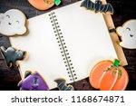 traditional halloween baked... | Shutterstock . vector #1168674871