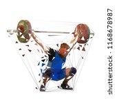weightlifter lifting big... | Shutterstock .eps vector #1168678987