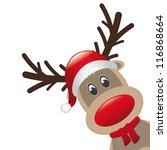 reindeer and hat scarf landscape | Shutterstock .eps vector #116868664