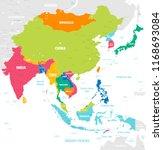 vector map of east asia... | Shutterstock .eps vector #1168693084