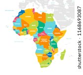 vector map of africa continent... | Shutterstock .eps vector #1168693087