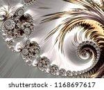 fractal a never ending pattern. ... | Shutterstock . vector #1168697617