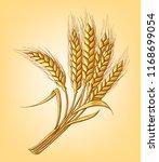 a few ears of wheat on a beige... | Shutterstock .eps vector #1168699054