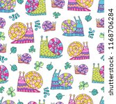 lovely seamless vector pattern... | Shutterstock .eps vector #1168706284