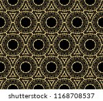 seamless golden ornament in... | Shutterstock . vector #1168708537