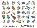 set of hand drawn school icons. ... | Shutterstock .eps vector #1168718161