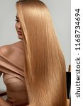 long blonde hair. beautiful... | Shutterstock . vector #1168734694