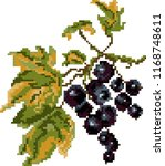 black currant pixel | Shutterstock .eps vector #1168748611