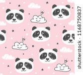seamless pattern with cute... | Shutterstock .eps vector #1168750837