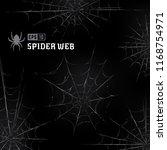 vector set of spider webs on... | Shutterstock .eps vector #1168754971