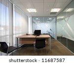 open plan office lit by natural ... | Shutterstock . vector #11687587