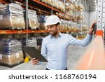 logistic business  shipment and ... | Shutterstock . vector #1168760194
