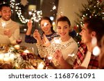 winter holidays and people... | Shutterstock . vector #1168761091