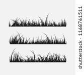 set of grass silhouettes... | Shutterstock .eps vector #1168761511