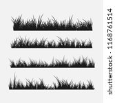 set of grass silhouettes... | Shutterstock .eps vector #1168761514