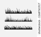 set of grass silhouettes... | Shutterstock .eps vector #1168761517
