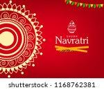 happy navratri festival design  ... | Shutterstock .eps vector #1168762381