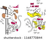 injured dog and duck go to... | Shutterstock .eps vector #1168770844