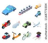 different types of transport... | Shutterstock . vector #1168773304