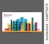 busan city architecture...   Shutterstock .eps vector #1168776274