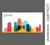 genoa city architecture... | Shutterstock .eps vector #1168776277