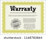 yellow retro warranty template. ...   Shutterstock .eps vector #1168783864