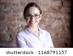 head shot portrait of... | Shutterstock . vector #1168791157