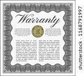 grey retro warranty template....   Shutterstock .eps vector #1168791997