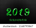 2019 green new year sign with... | Shutterstock .eps vector #1168795867