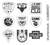 vector patch black and white | Shutterstock .eps vector #116880007