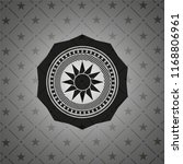 sun icon inside dark emblem.... | Shutterstock .eps vector #1168806961